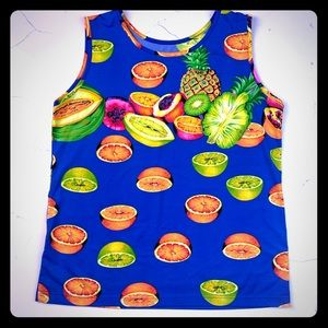 NWOT Fruity Tutti Top 🍊 🍋 🍍 🍌 💖❇️